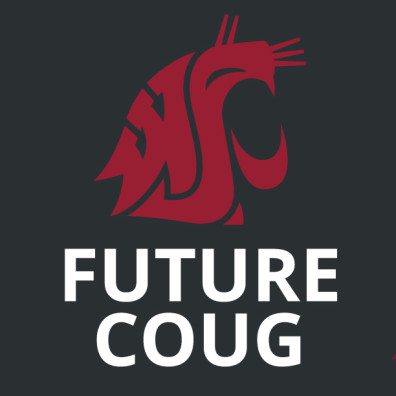 FutureCoug Social media profile image crimson on gray with white text