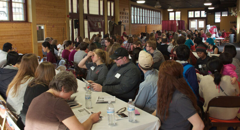 Audience listening to speaker at the Annual Recognition Program