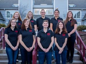 Group photo of nine Student Swine Cooperative members