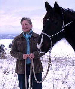 Angela Reitmeier with horse