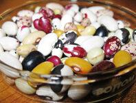 Dry beans varieties in a bowl