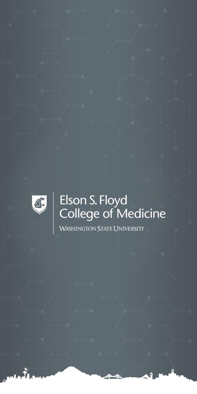 Vertical Gray Wallpaper Mobile WSU College of Medicine logo