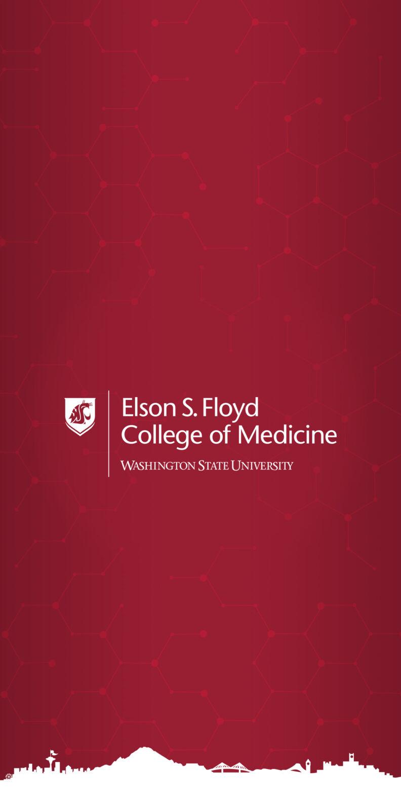 Vertical Crimson Wallpaper Mobile WSU College of Medicine logo