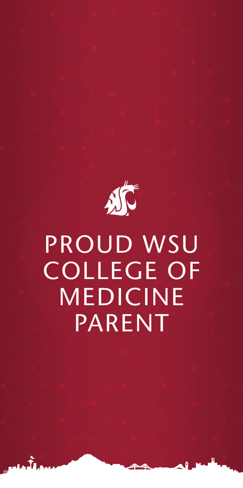Crimson Vertical Wallpaper Proud WSU College of Medicine PArent