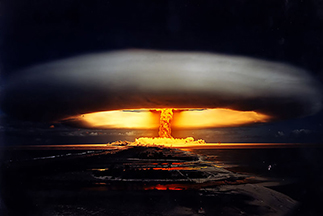 'Licorne' was the test of a 914 kiloton thermonuclear bomb by the French government in the Mururoa Atoll, French Polynesia, on July 3, 1970.