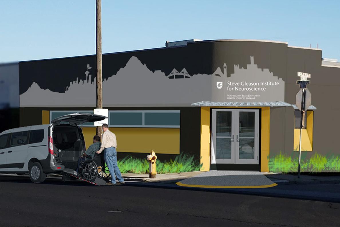 Rendering of exterior of institute.