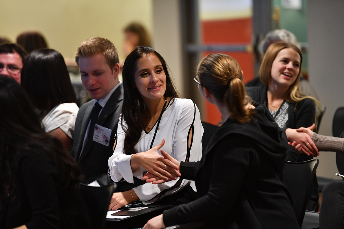Student participants at last year's Murrow Symposium.
