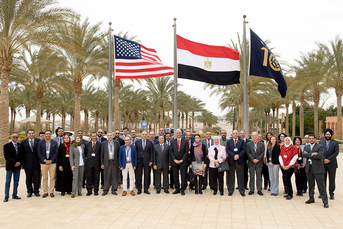 U.S. and Egyptian scientists and policymakers involved in the establishment of the Alexandria Water Resilience Center for Excellence.