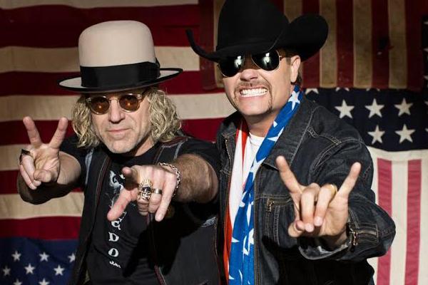 Closeup of country music duo Big & Rich.