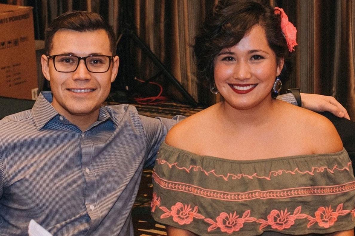 Closeup of Edwardo and Margarita Magana.