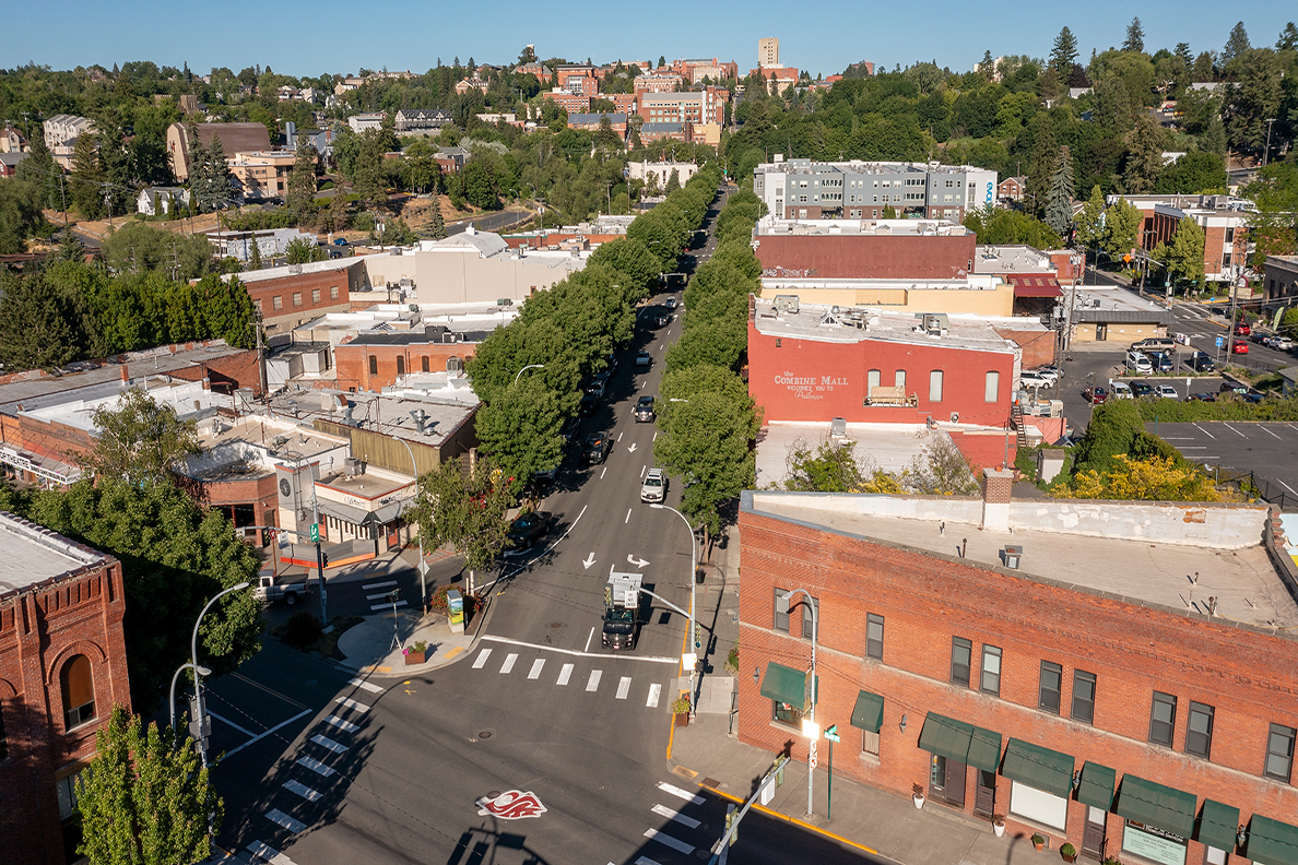 downtown pullman from the air