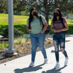 WSU Tri-Cities students walking on campus.
