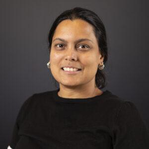 Closeup of Kirti Rajagopalan