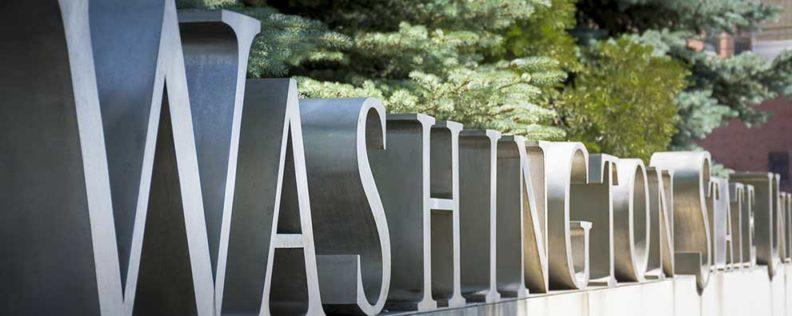 Photo of sign that says Washington State University