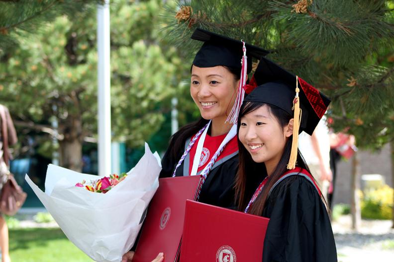 Nursing Graduates at Commencement 2015