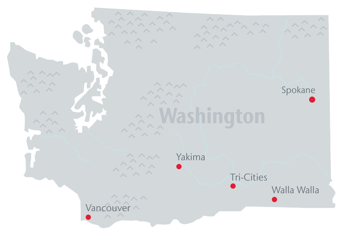 College Of Nursing Washington State University - Washington state on us map