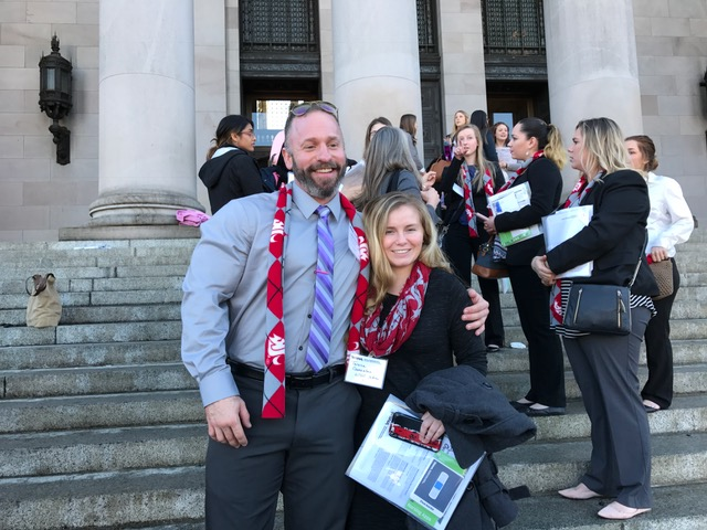 Adam Halvorsen and Teresa Gonzalez, Yakima in Olympia