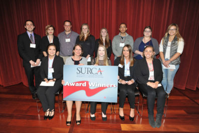 A portrait of the winners of SURCA 2017 in the Social Sciences category