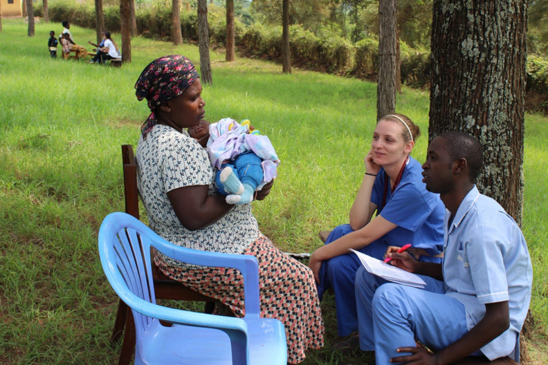 Students in Uganda with Anita Hunter