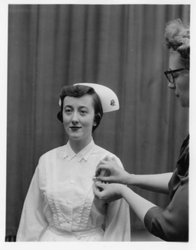 Photo of a nursing student in 1955