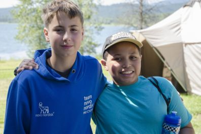 Photo of two boys at Camp Stix.