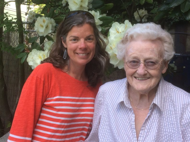 Julie Postma, left, a faculty member with the College of Nursing, has been a volunteer companion to Barbara, right, through ElderFriends.