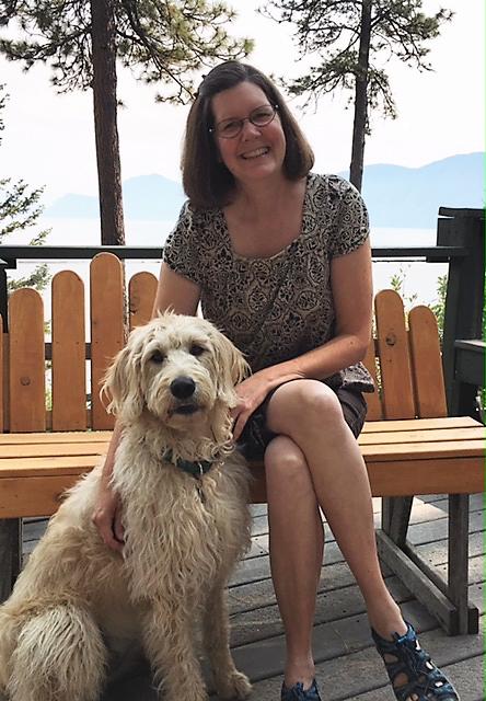 WSU College of Nursing instructor Lynn Jinishian with her dog Lola.