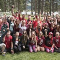 group shot of WSU students and alums at Camp Stix