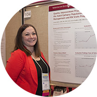 DNP student presenting poster at WIN