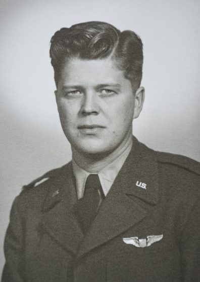 WWII-era portrait in uniform