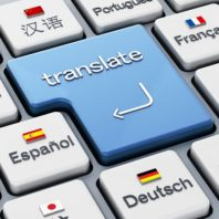 """stock art of keyboard with the word """"translate"""""""