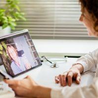 clinician using telehealth