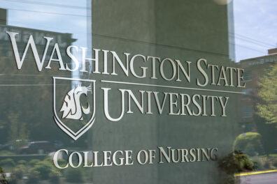 front lobby wSU college of nursing building