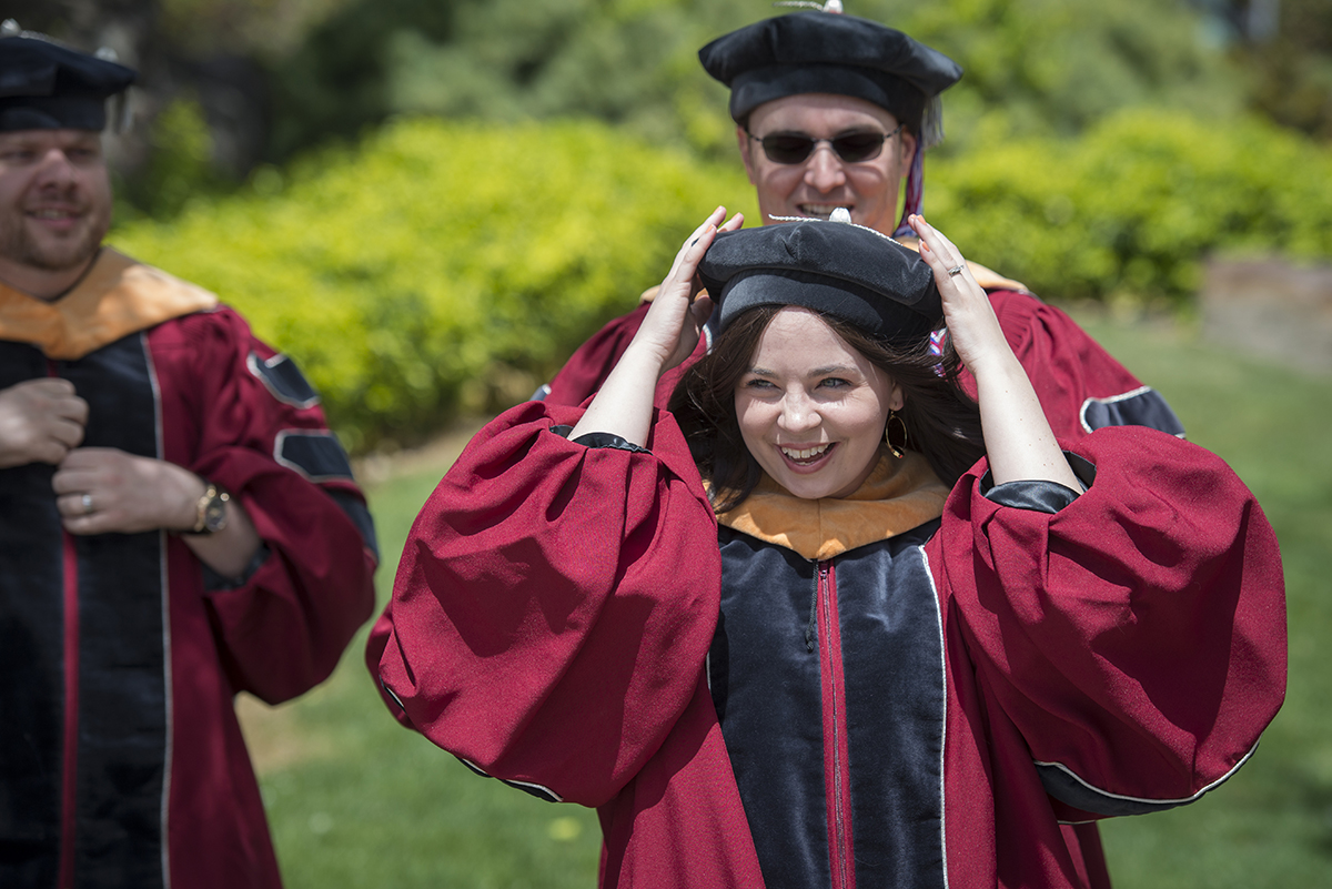 Female DNP-graduate-in-regalia