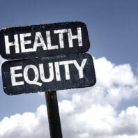 stock art of sign that says health equity