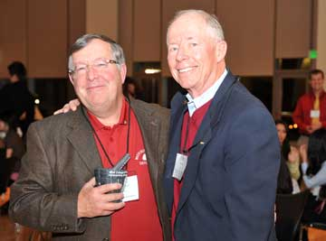 Fred Mcginnis with friend John Oftebro