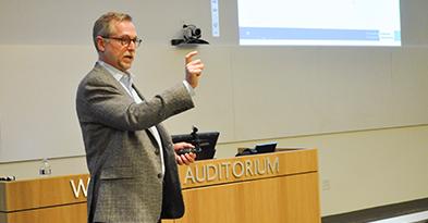 hauber gives a seminar