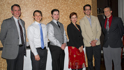 Dean Pollack with students