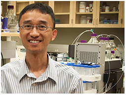 dr. gregory poon in the lab