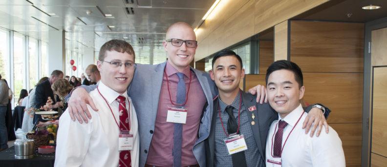 Students at a donor appreciation event