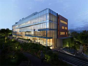 artist rendering of new Pharmacy building