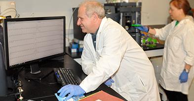 Dr. Philip Lazarus in his lab
