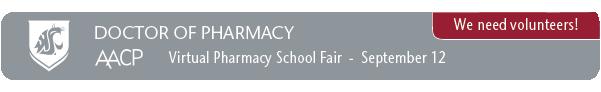 We need volunteers for the virtual pharmacy school fair.