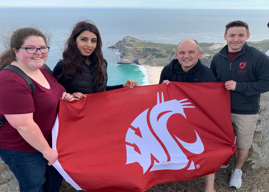 Three Yakima student pharmacists visited Cape Town, South Africa with faculty member Rustin Crutchly as part of a new international APPE rotation in HIV/Precision Medicine