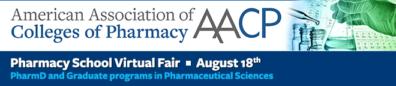 AACP Pharmacy School Virtual Fair, August 18, 2020