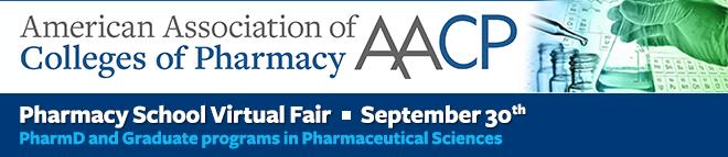 AACP Pharmacy School Virtual Fair, September 30, 2020