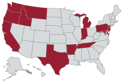 2020 WSU pharmacy graduates went on to residencies in Washington, Oregon, Idaho, Montana, California, Texas, Arkansas, Indiana, Maryland, Michigan, New Jersey, Pennsylvania, and Tennessee.