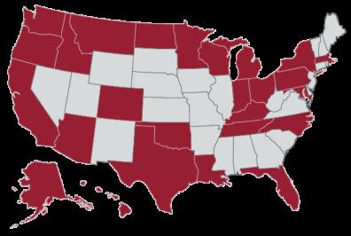 WSU pharmacy students come from Washington, Oregon, California, Idaho, Montana, North Dakota, Minnesota, Wisconsin, Michigan, Indiana, Ohio, Kentucky, Tennessee, North Carolina, Maryland, Pennsylvania, New York, Massachusetts, Florida, Louisiana, Texas, Oklahoma, Colorado, Arizona, Alaska, and Hawaii.