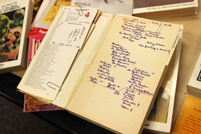 Handwritten notes in Luchting's books offer glimpses into his life and mind.