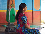 pregnant woman meditates